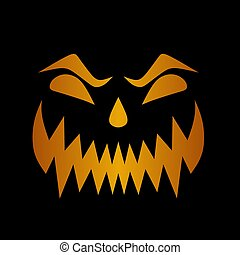 Illustration of a scary smile synonymous with Halloween day...