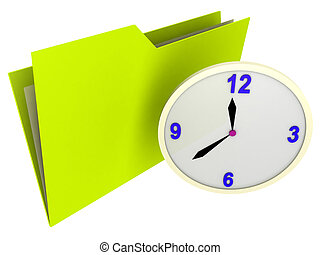 illustration of a schedule folder