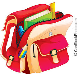illustration of a school bag on a white