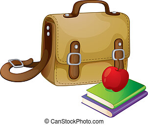 school bag - illustration of a school bag on a white