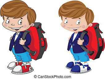 schoolboy set - illustration of a schoolboy set