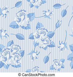 seamless roses blue