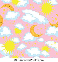 seamless sun and moon
