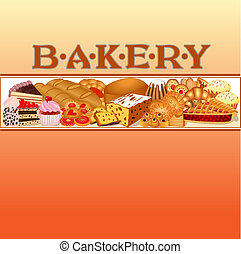 of a set of baking bread for bakery