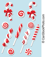 set of Christmas candy sticker
