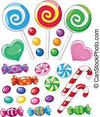 set of sweets - illustration of a set of sweets