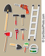 set of tools sticker