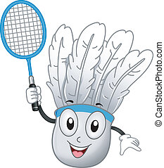 Shuttlecock Mascot - Illustration of a Shuttlecock Mascot...