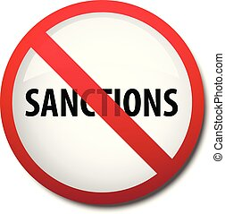 illustration of a sign prohibiting economic sanctions...