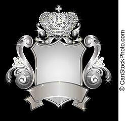 silver heraldic shield