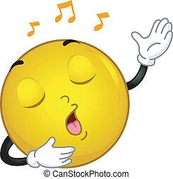 Singing Smiley - Illustration of a Singing Smiley