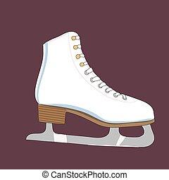 Illustration of a skates