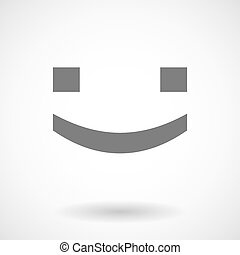 Illustration of a smile text face