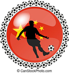 soccer button china