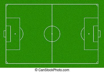 Illustration of a soccer field.