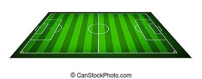 Illustration of a soccer field