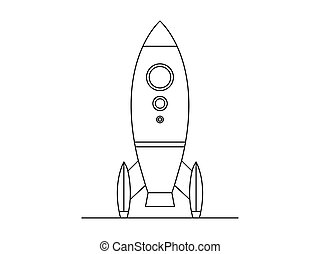 Illustration of a space rocket in vector format isolated on white background