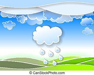 Illustration of a spring rain