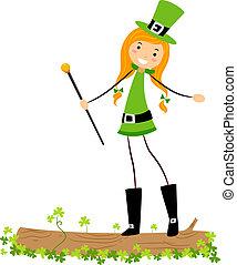 Girl on Log