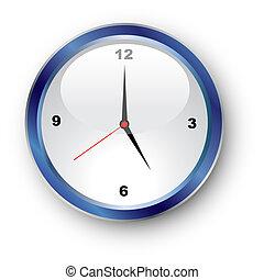 Illustration of a standard clockface