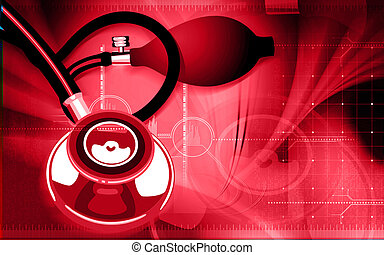 stethoscope - Illustration of a stethoscope in blue...