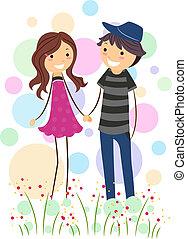 Stick Figure Couple - Illustration of a Stick Figure Couple ...
