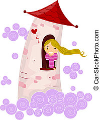 Stick Figure Princess - Illustration of a Stick Figure...