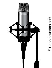 microphone - Illustration of a studio professional...
