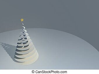 Illustration of a stylized spiral geometric Christmas tree