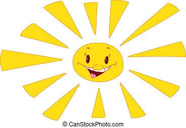 sun laughs - illustration of a sun laughs