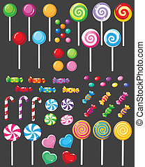 sweets candy set - illustration of a sweets candy set