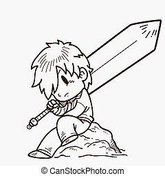 swordsman - Illustration of a swordsman