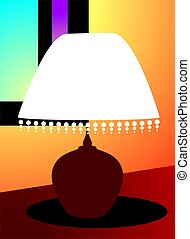 table lamp - Illustration of a table lamp