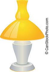 Illustration of a table lamp. EPS10