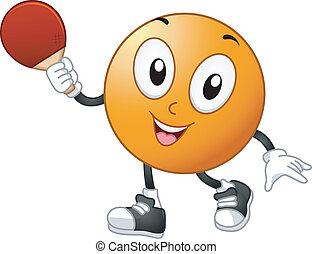 Table Tennis Mascot - Illustration of a Table Tennis Mascot...