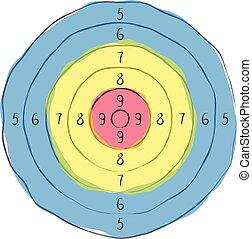 Illustration of a target.