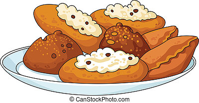 illustration of a tasty pastry