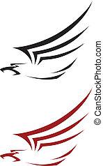 tatoo hawk - illustration of a tatoo hawk