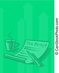 Illustration of a tax receipt