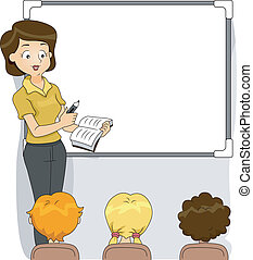 Lesson for the Day - Illustration of a Teacher Discussing...