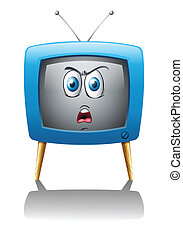 a Television with face