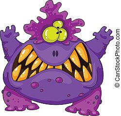 terrible monster - Illustration of a terrible monster