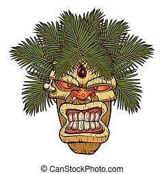 illustration of a tiki totem.