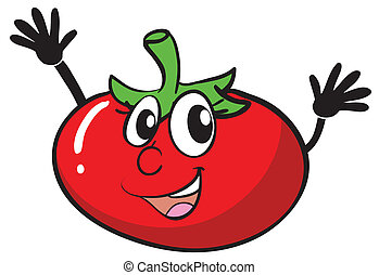 tomato - illustration of a tomato on a white background
