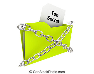 top secret folder - illustration of a top secret folder