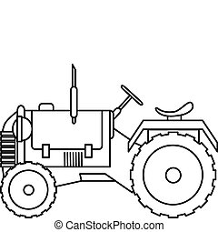 Tractor - Illustration of a Tractor
