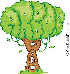Arbor Day - Illustration of a Tree Symbolizing Arbor Day