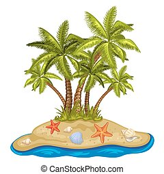 Illustration of a tropical island