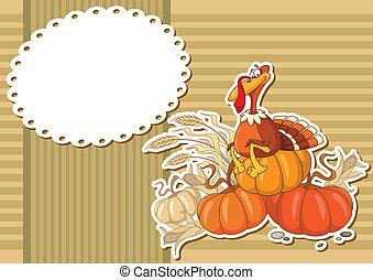 turkey sticker background