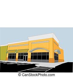 corner retail store - illustration of a upscale corner...